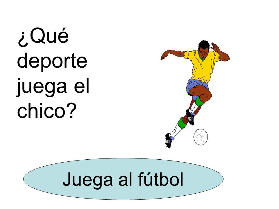 ¿Qué deporte juega el chico Juega al fútbol