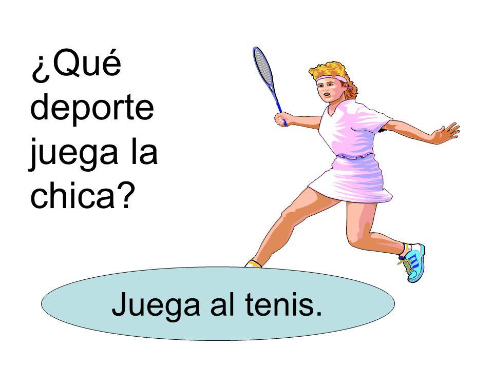 ¿Qué deporte juega la chica Juega al tenis.