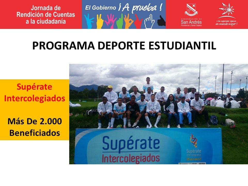 Supérate Intercolegiados Más De 2.000 Beneficiados PROGRAMA DEPORTE ESTUDIANTIL