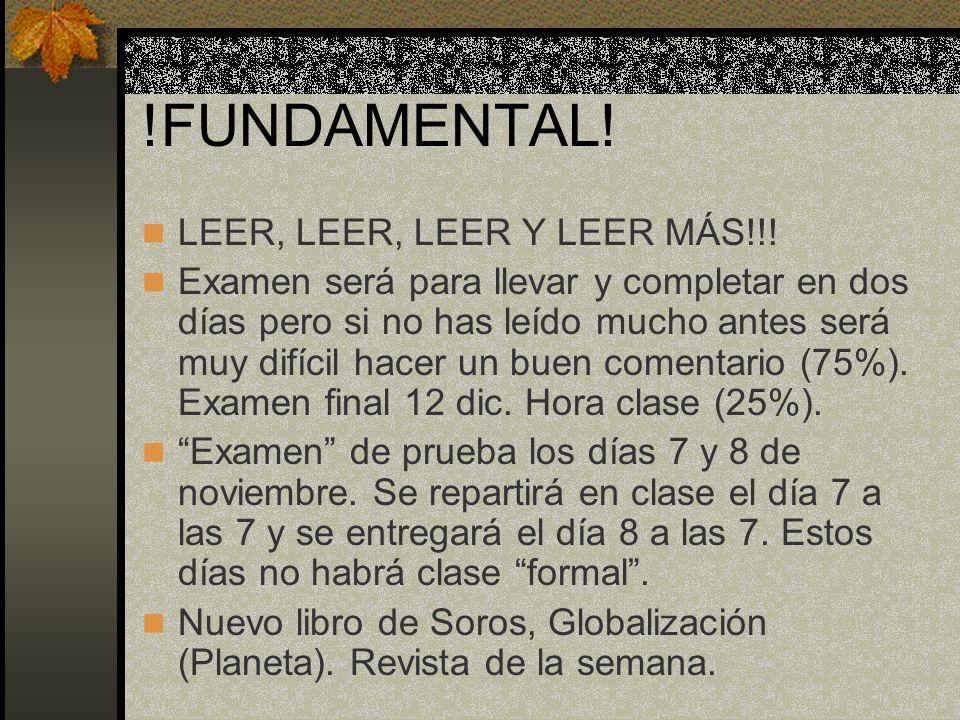 !FUNDAMENTAL. LEER, LEER, LEER Y LEER MÁS!!.