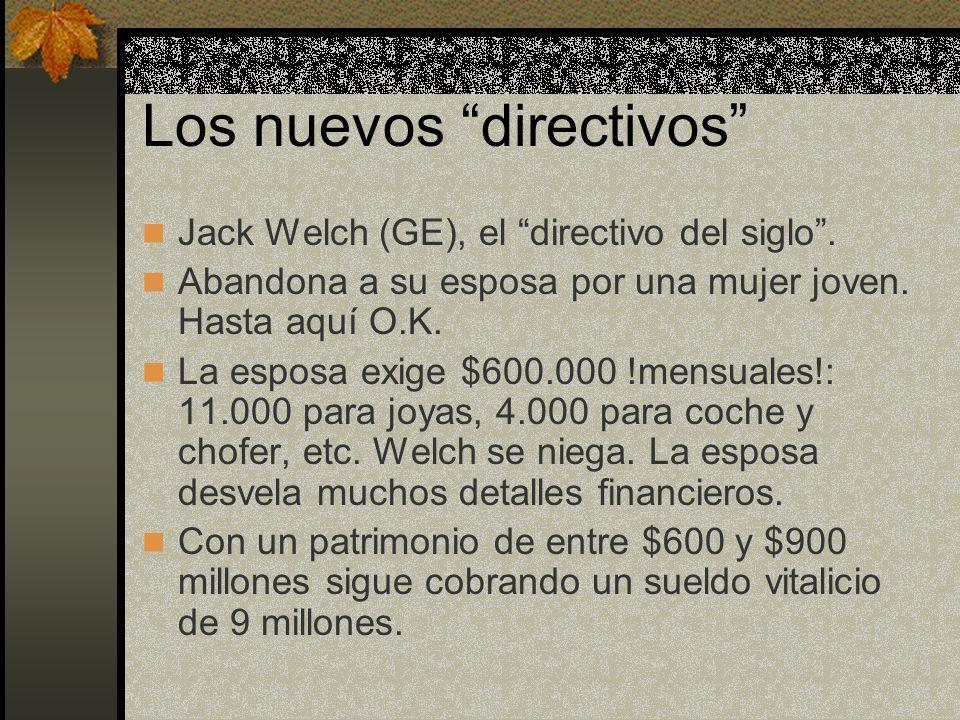 Los nuevos directivos Jack Welch (GE), el directivo del siglo .