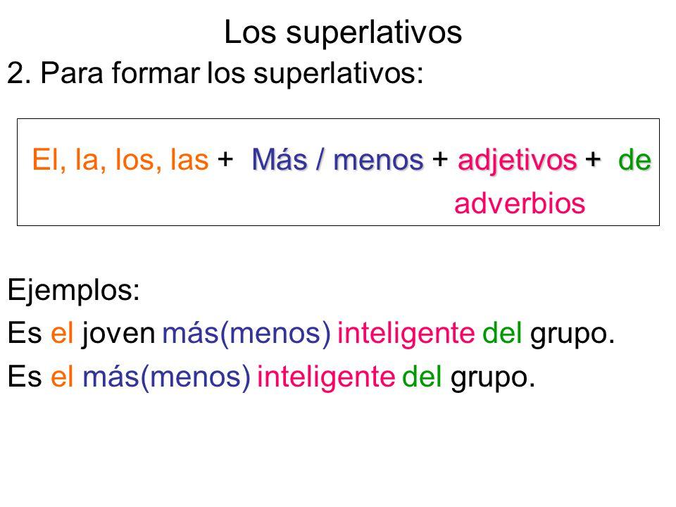Los superlativos 2.