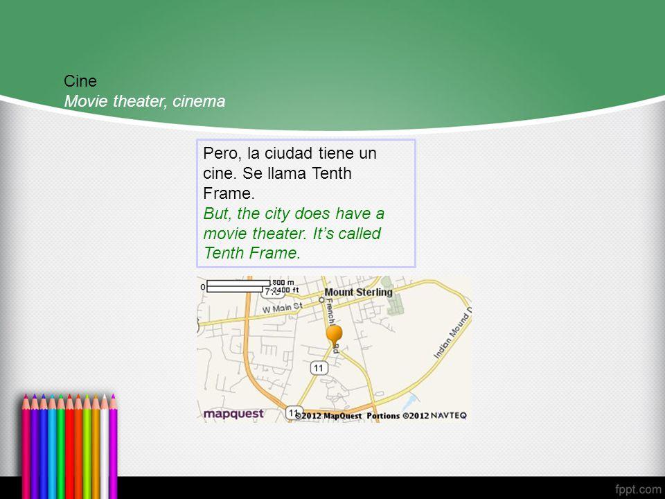 Cine Movie theater, cinema Pero, la ciudad tiene un cine.