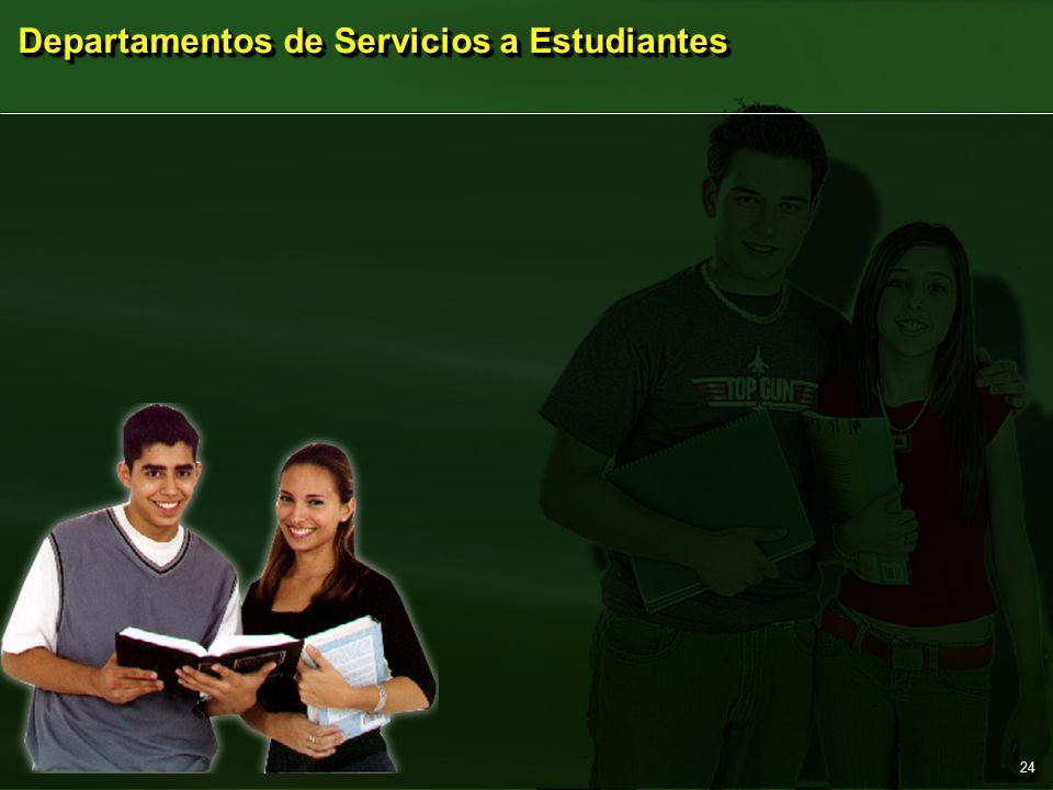 Departamentos de Servicios a Estudiantes 24