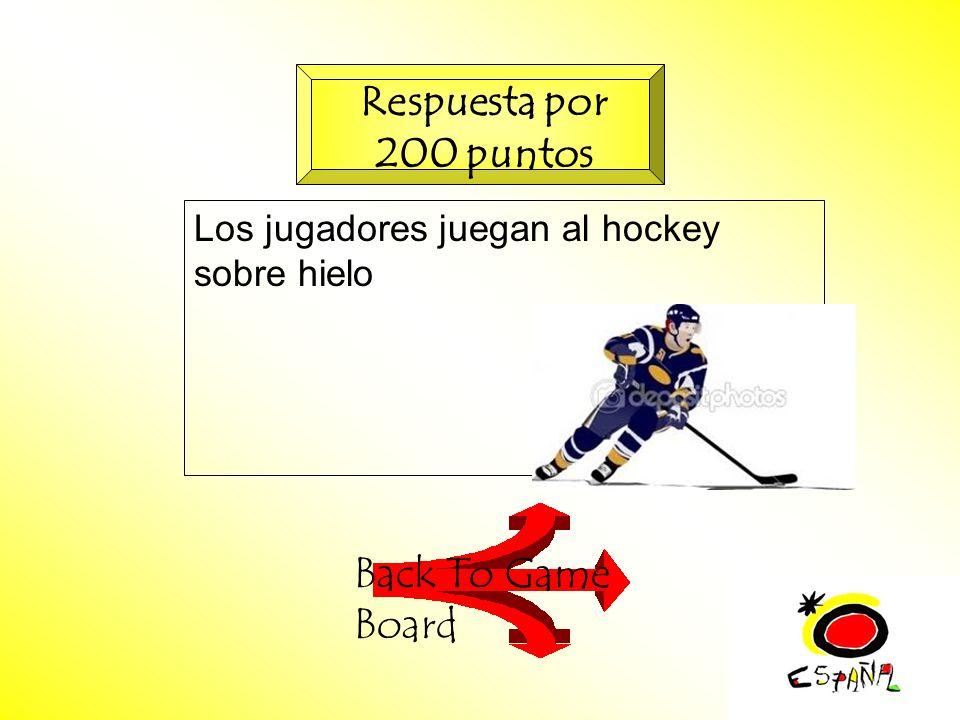 M.K.Klamer_2000_Revised 2002 Los jugadores juegan al hockey sobre hielo Back To Game Board Respuesta por 200 puntos