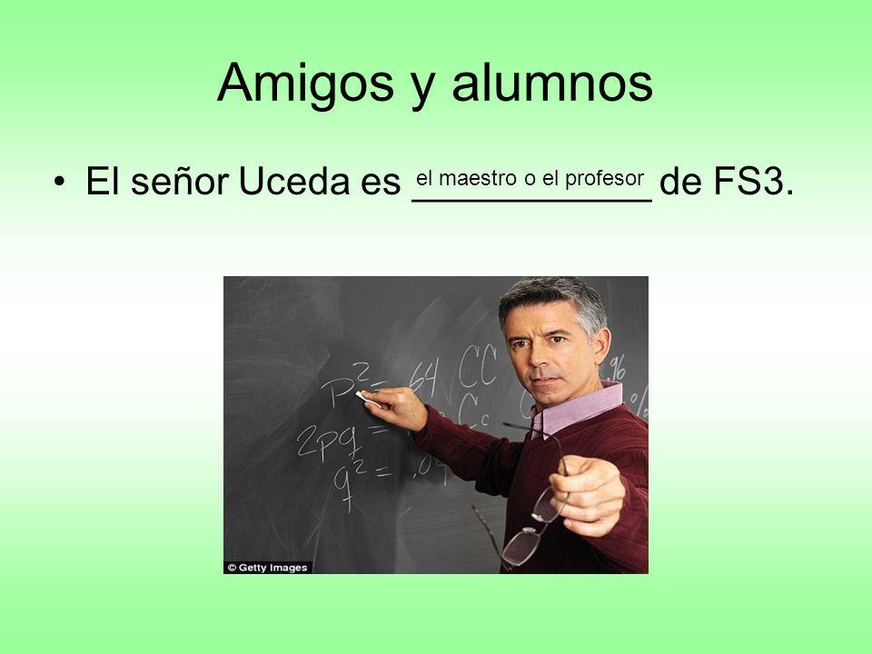 Amigos y alumnos El señor Uceda es ___________ de FS3. el maestro o el profesor