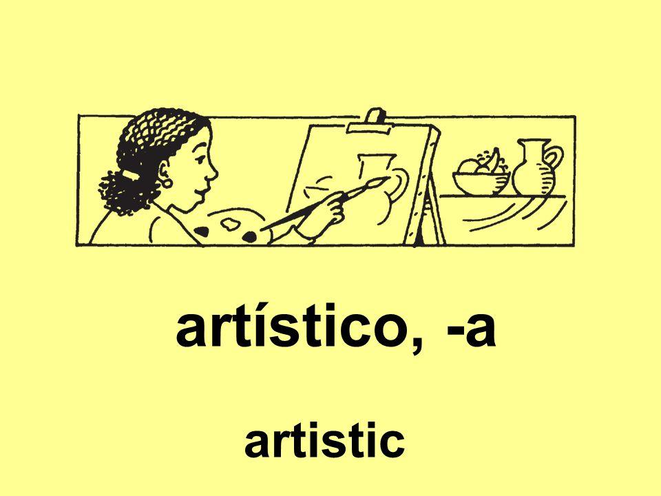 artístico, -a artistic