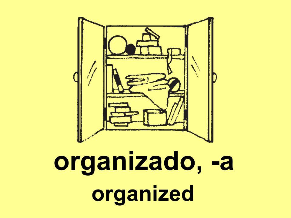 organizado, -a organized