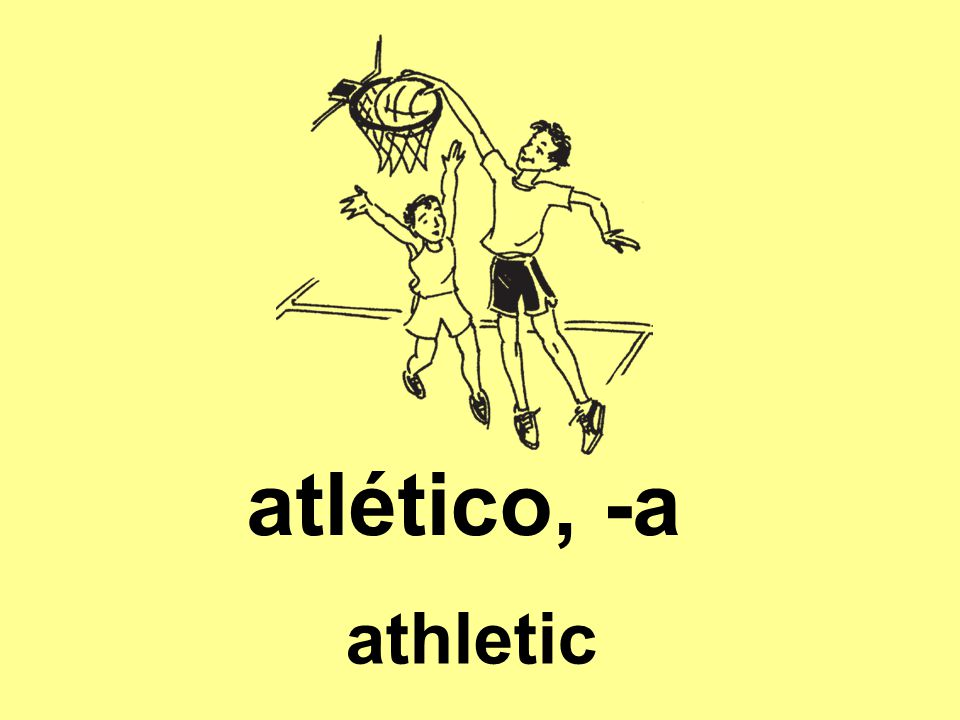 atlético, -a athletic