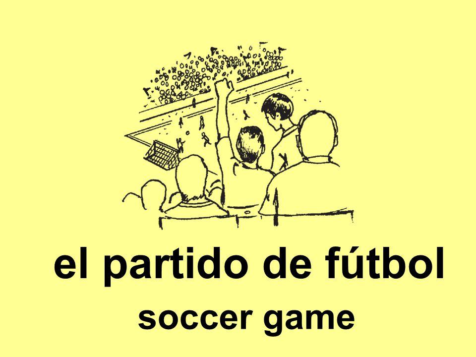 el partido de fútbol soccer game