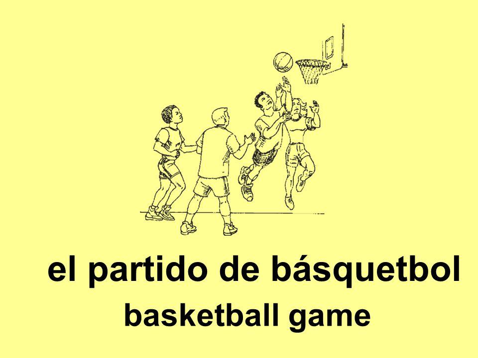 el partido de básquetbol basketball game