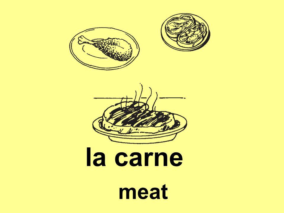 la carne meat
