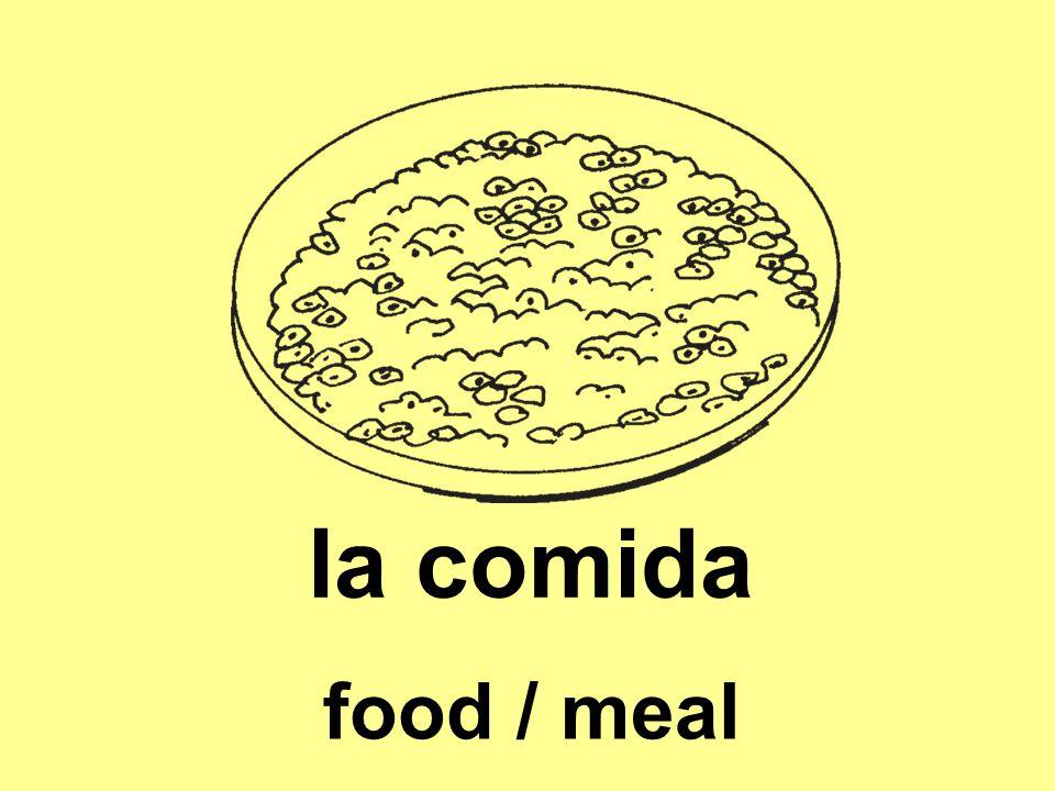 la comida food / meal