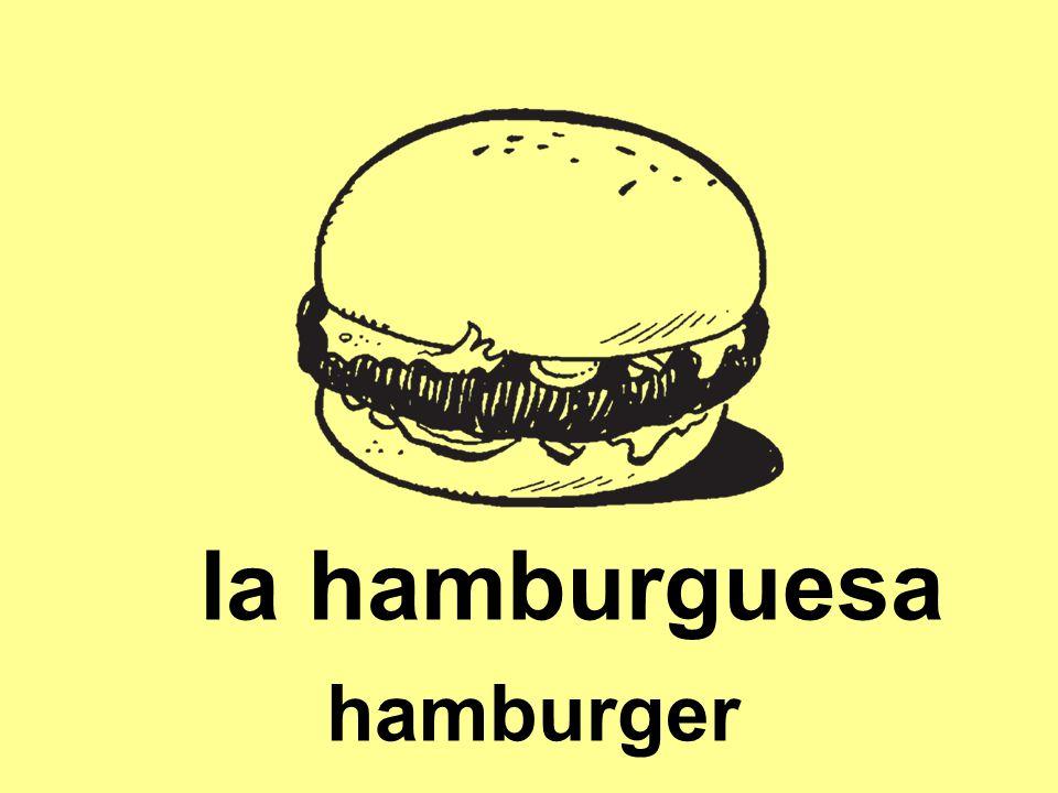 la hamburguesa hamburger