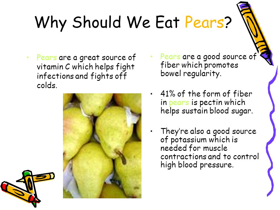 Why Should We Eat Pears.