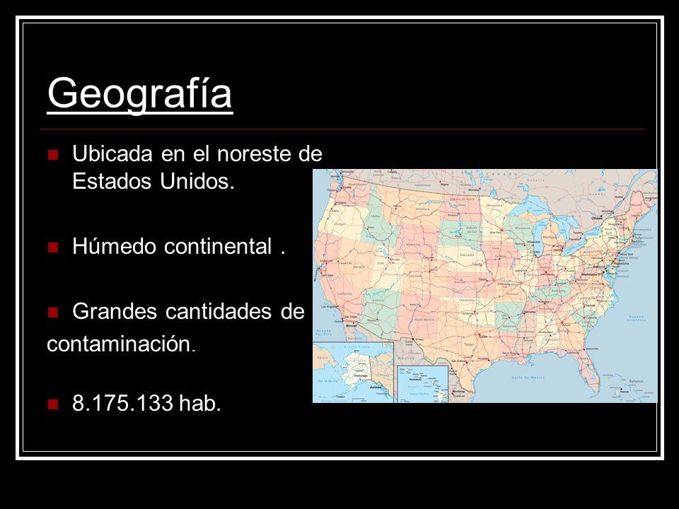 Geografía Ubicada en el noreste de Estados Unidos.