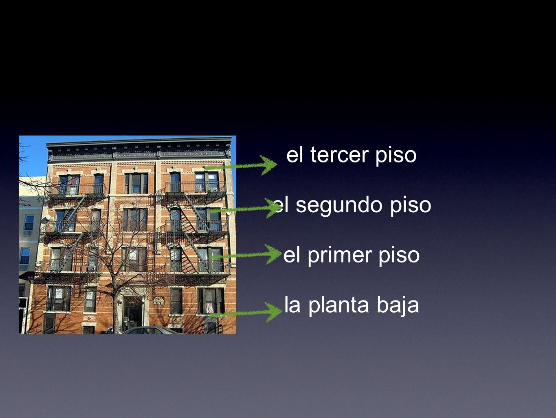 el primer piso el segundo piso el tercer piso la planta baja