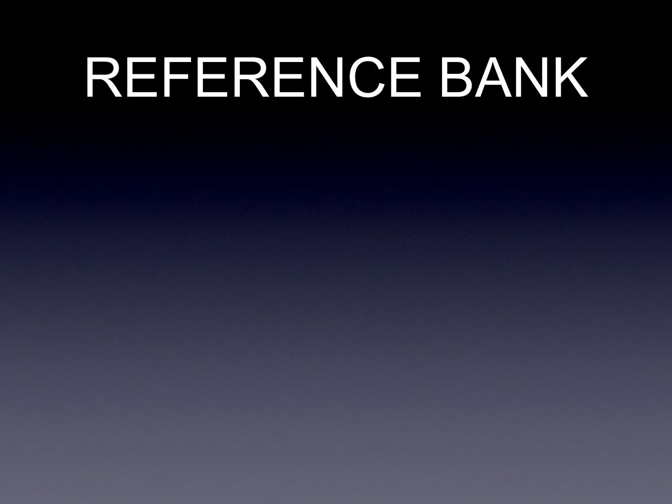 REFERENCE BANK