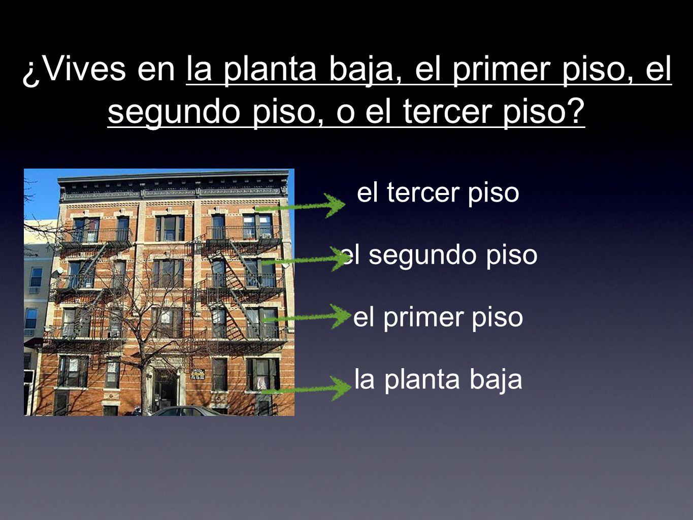¿Vives en la planta baja, el primer piso, el segundo piso, o el tercer piso.