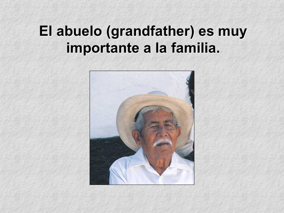 El abuelo (grandfather) es muy importante a la familia.