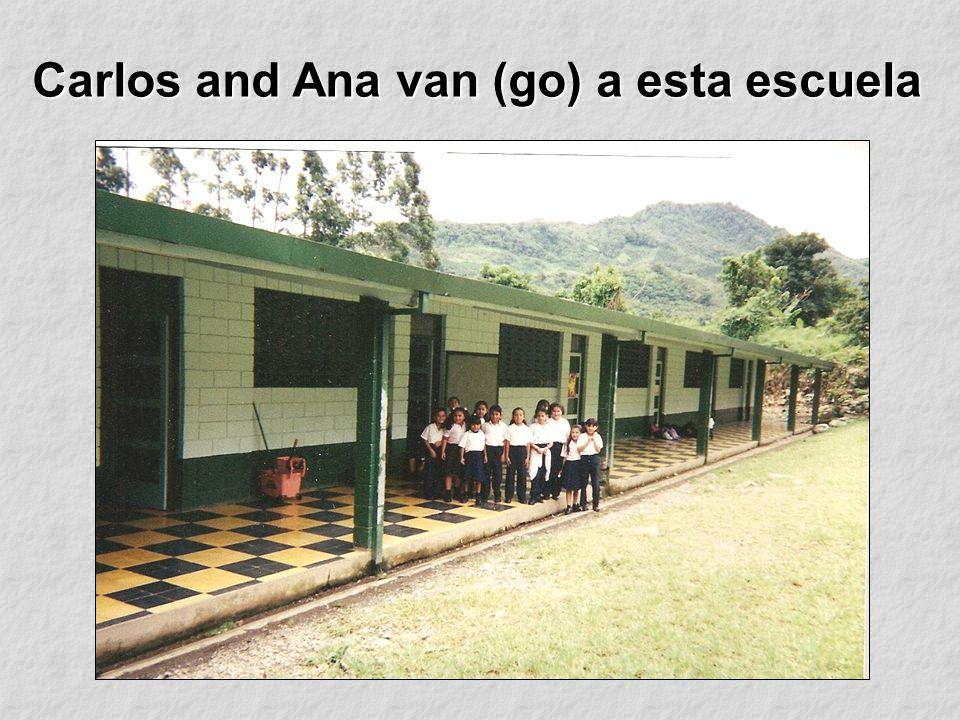 Carlos and Ana van (go) a esta escuela