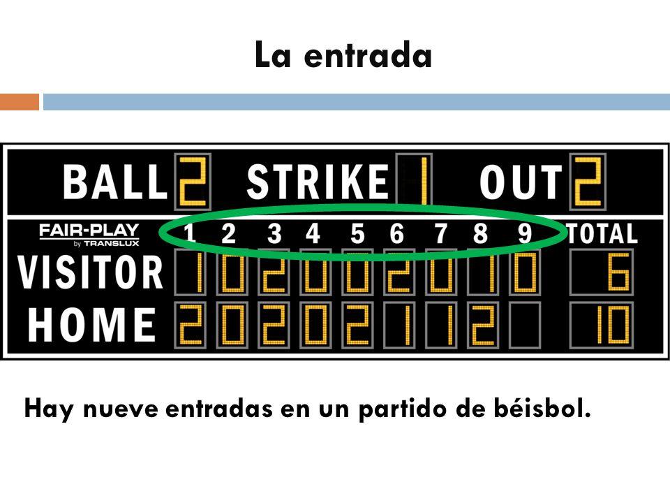 La entrada Hay nueve entradas en un partido de béisbol.