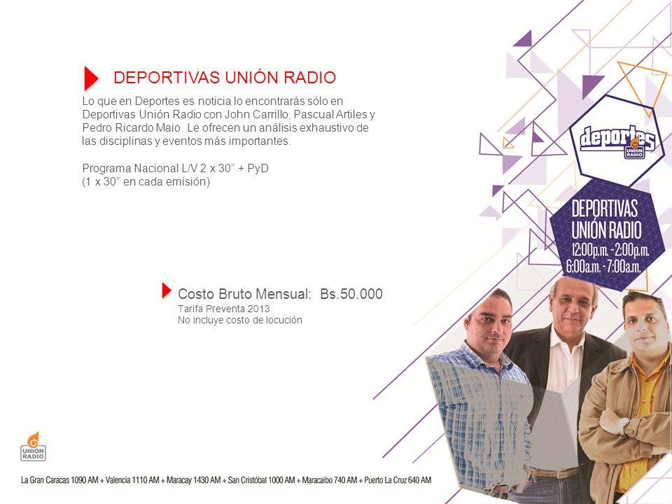 Lo que en Deportes es noticia lo encontrarás sólo en Deportivas Unión Radio con John Carrillo, Pascual Artiles y Pedro Ricardo Maio.