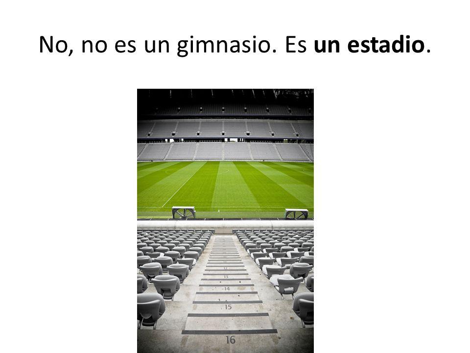 No, no es un gimnasio. Es un estadio.