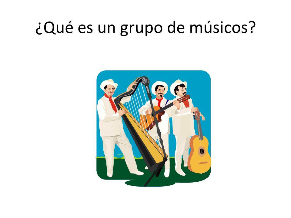 ¿Qué es un grupo de músicos