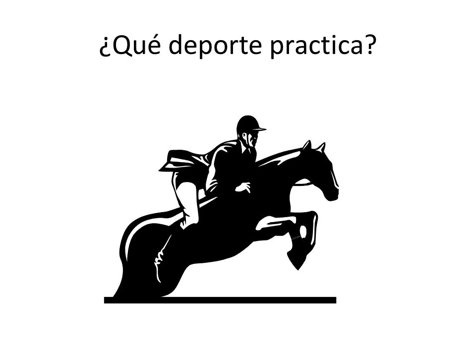 ¿Qué deporte practica