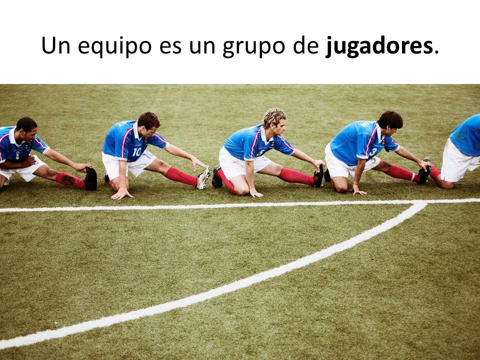 Un equipo es un grupo de jugadores.