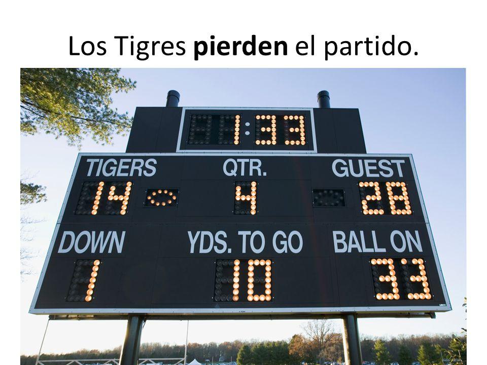 Los Tigres pierden el partido.