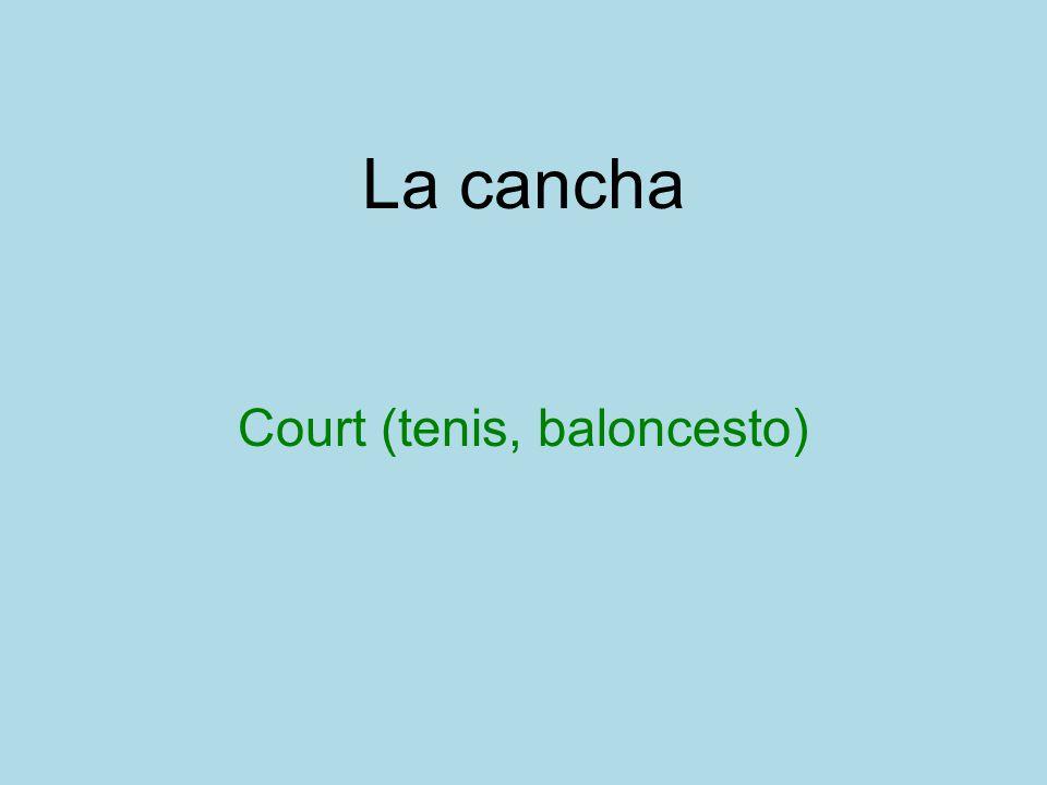 La cancha Court (tenis, baloncesto)