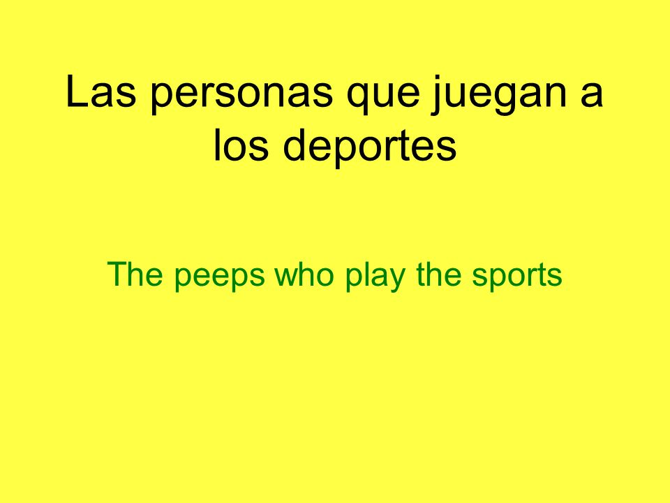 Las personas que juegan a los deportes The peeps who play the sports