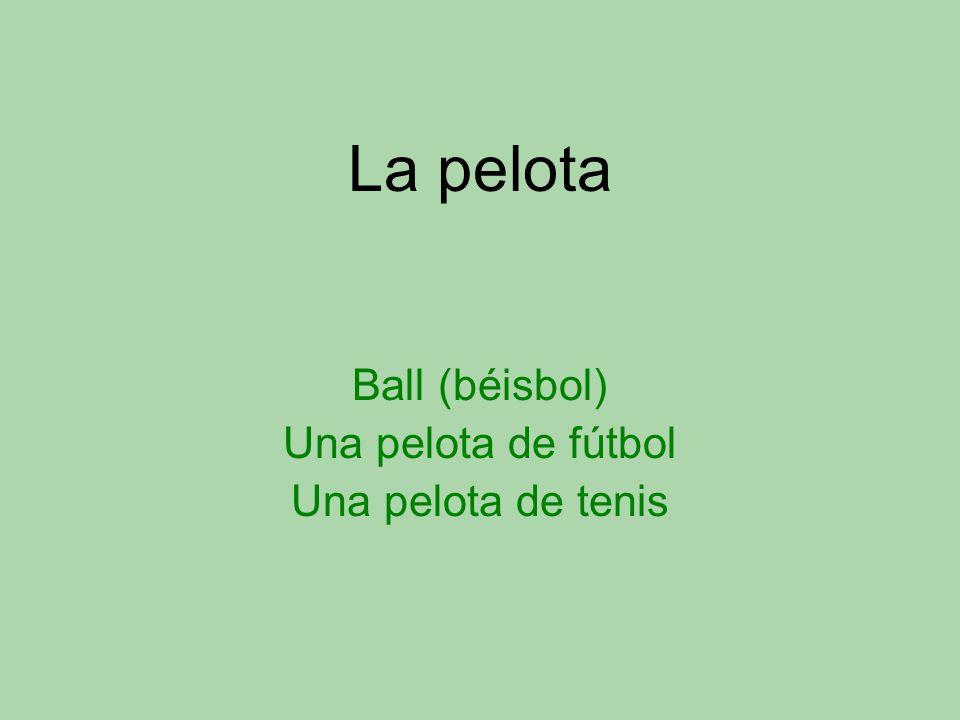 La pelota Ball (béisbol) Una pelota de fútbol Una pelota de tenis