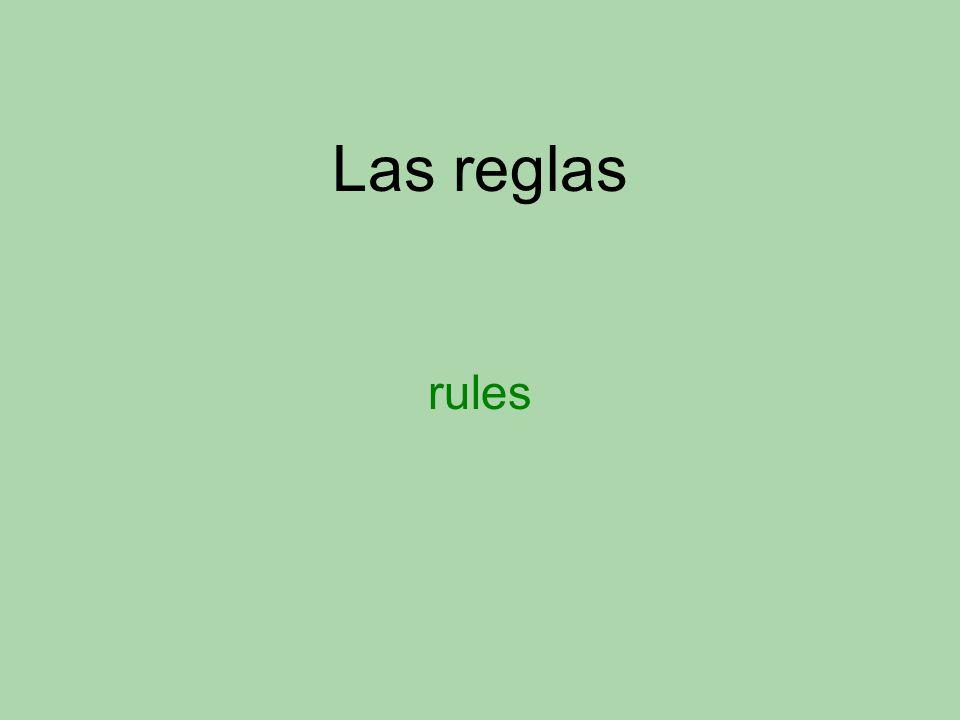 Las reglas rules