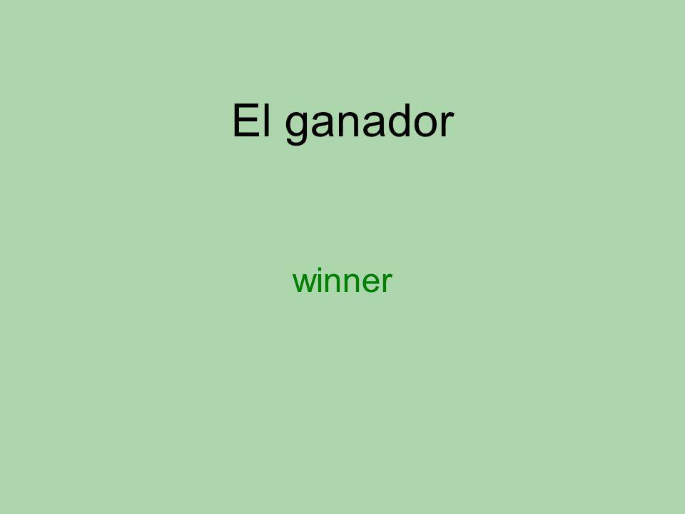 El ganador winner