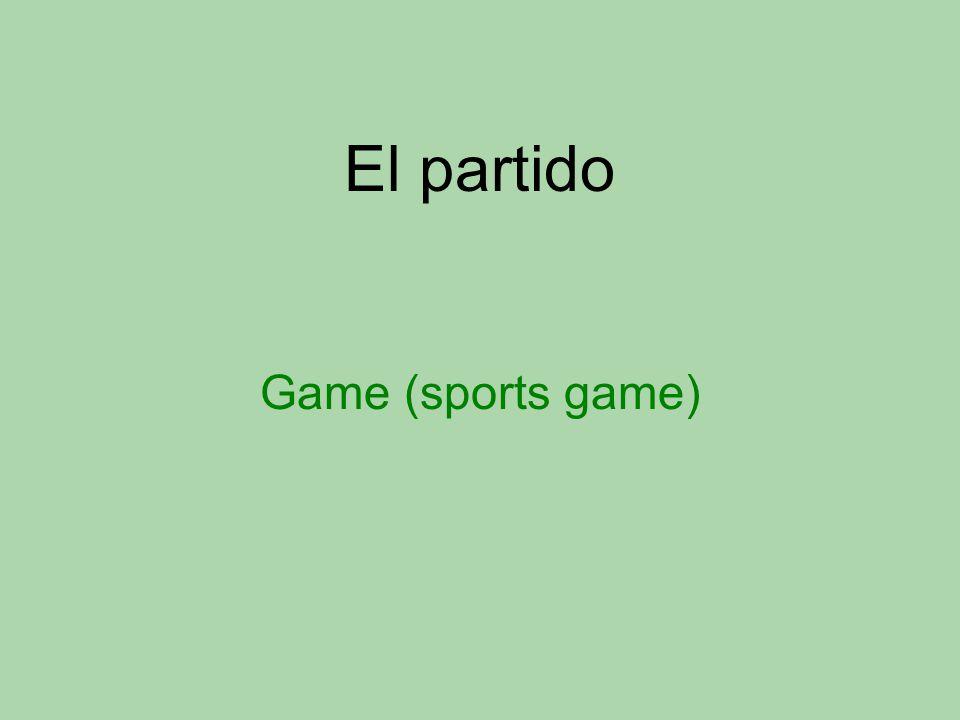 El partido Game (sports game)