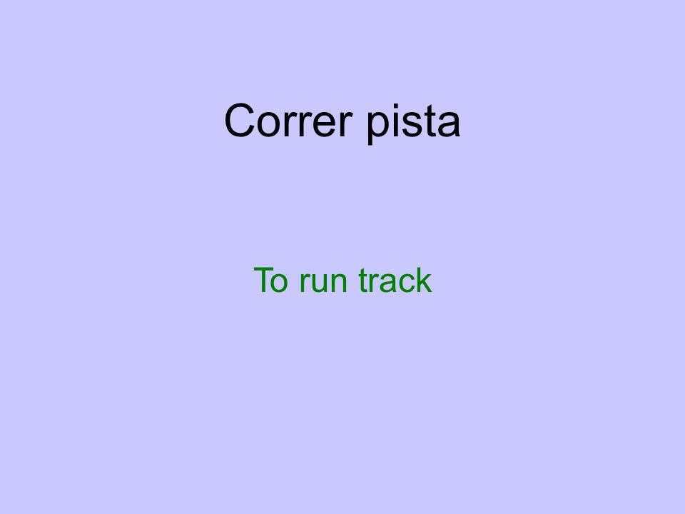 Correr pista To run track