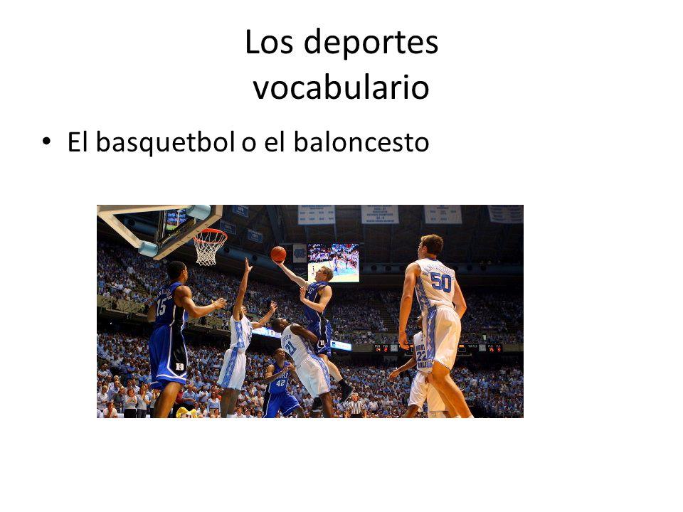 Los deportes vocabulario El basquetbol o el baloncesto