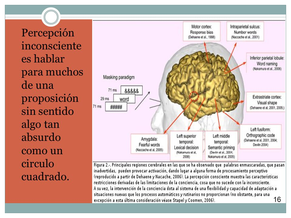 Percepción inconsciente es hablar para muchos de una proposición sin sentido algo tan absurdo como un circulo cuadrado.