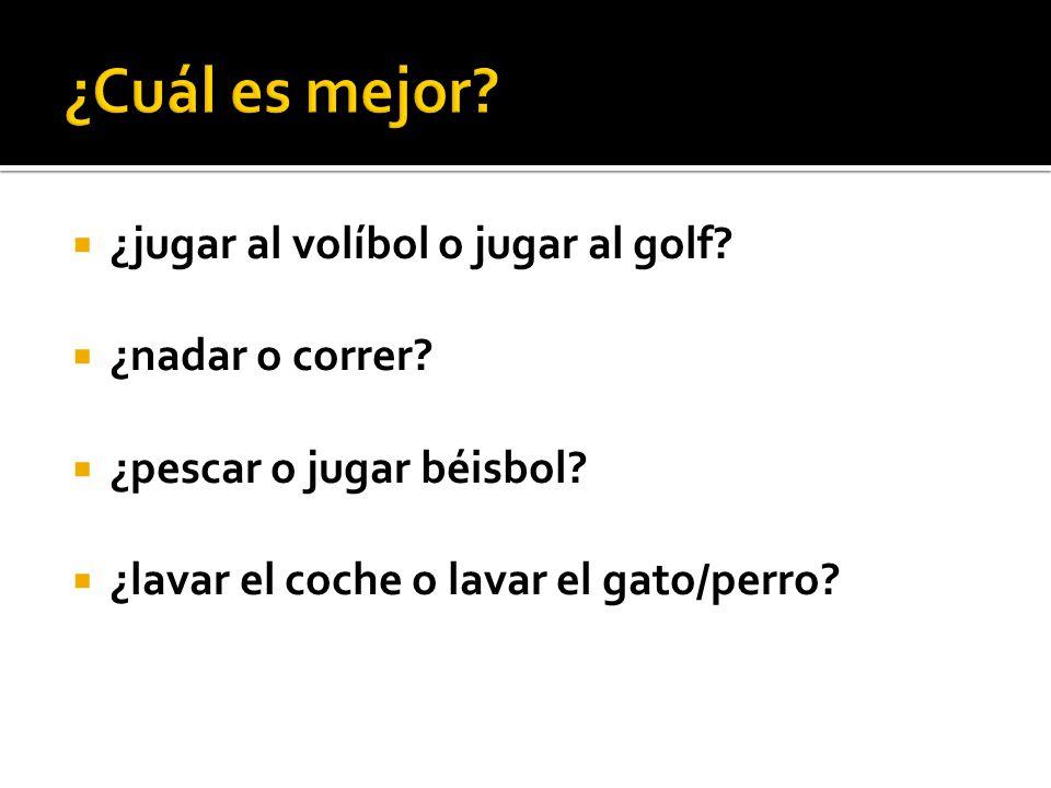  ¿hablar inglés o hablar español.  ¿hacer la tarea de matemáticas o hacer la tarea de inglés.