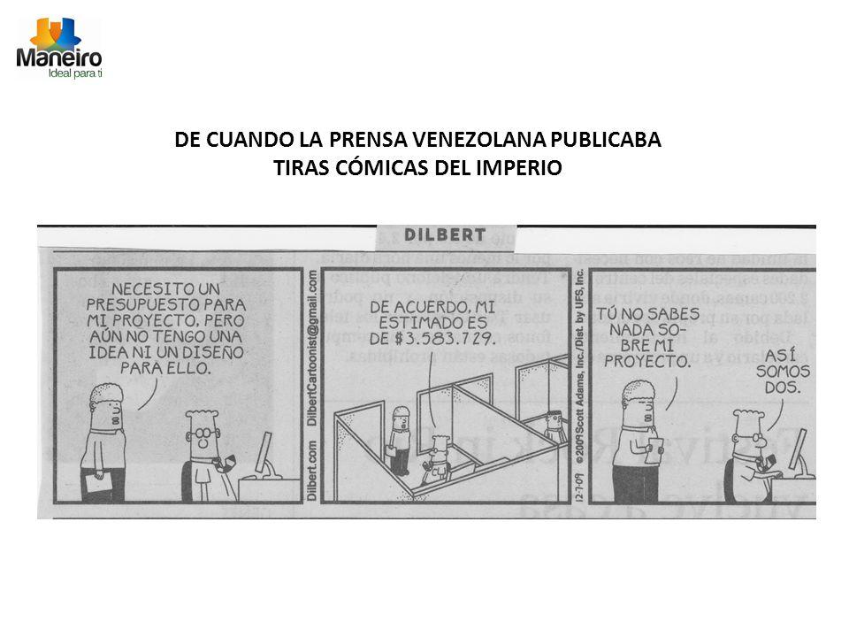DE CUANDO LA PRENSA VENEZOLANA PUBLICABA TIRAS CÓMICAS DEL IMPERIO