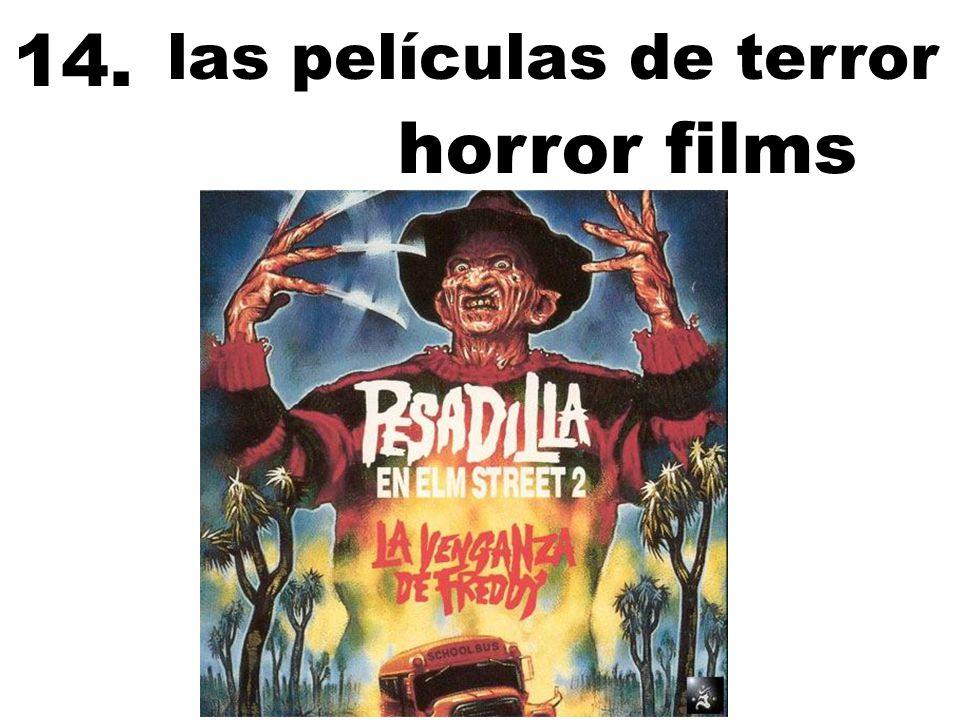 las películas de terror 14. horror films