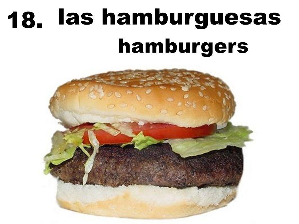las hamburguesas 18. hamburgers