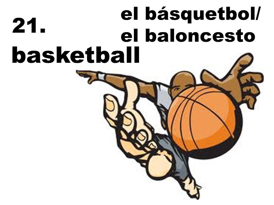 el básquetbol/ el baloncesto 21. basketball