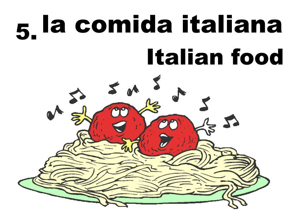 la comida italiana Italian food 5.