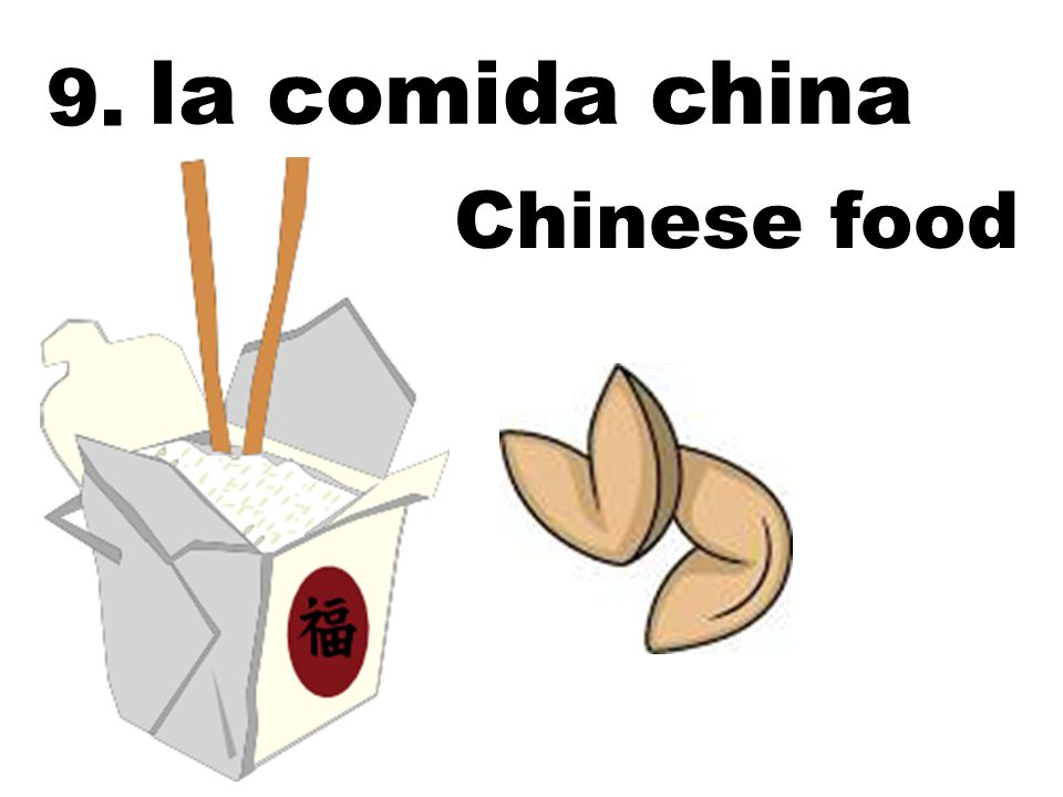 la comida china Chinese food 9.
