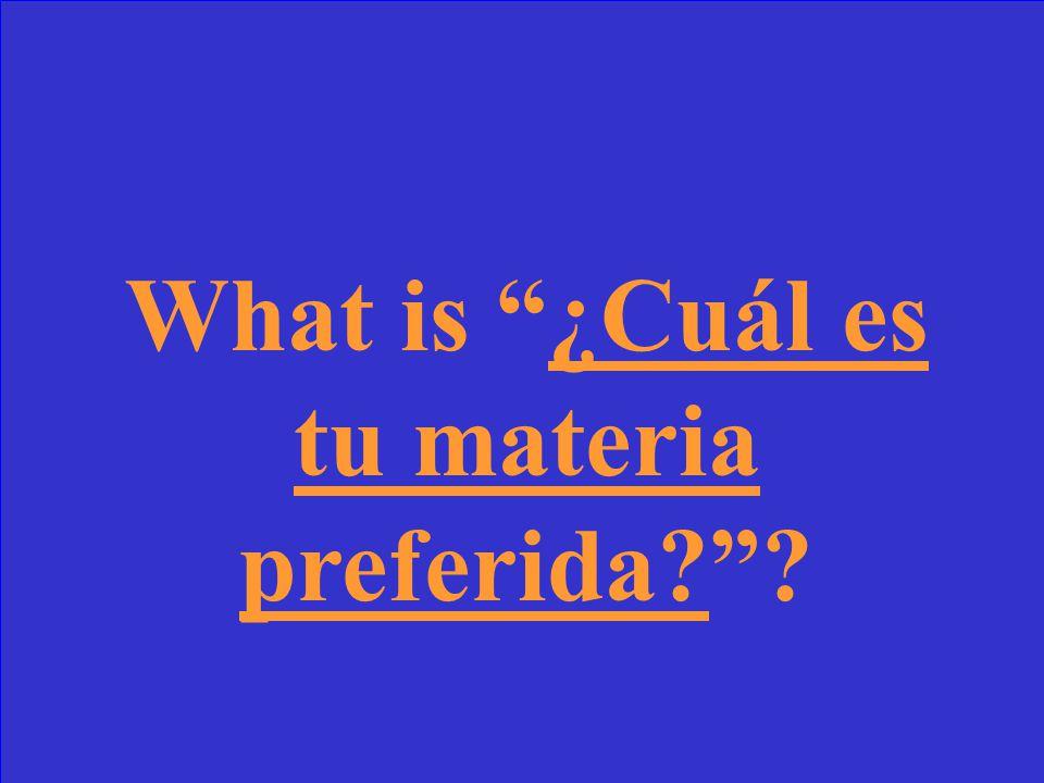 Mi materia preferida es el español.