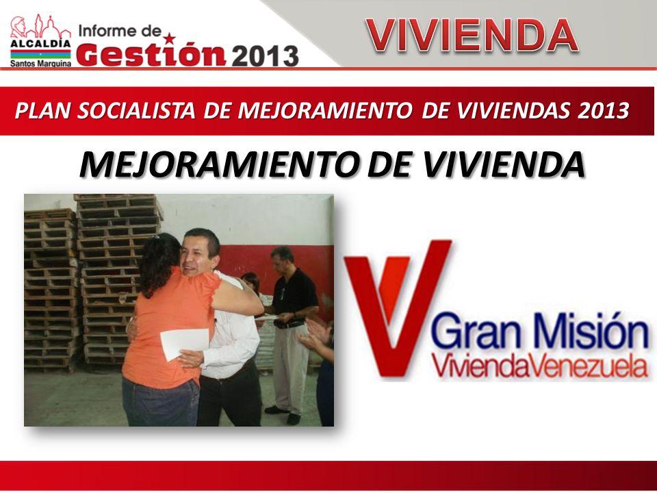 PLAN SOCIALISTA DE MEJORAMIENTO DE VIVIENDAS 2013 PLAN SOCIALISTA DE MEJORAMIENTO DE VIVIENDAS 2013 MEJORAMIENTO DE VIVIENDA MEJORAMIENTO DE VIVIENDA